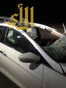 مصرع شخص بعد إرتطام مركبته بجمل سائب على طريق مكة الرياض