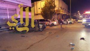 12 إصابة بحادث مروري على شارع السويدي بالرياض