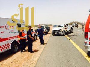 7 إصابات لعائلة بحادث سير على الدائري بطبرجل