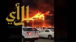 جازان: السيطرة على حريق بمبنى تجاري قبل افتتاحه