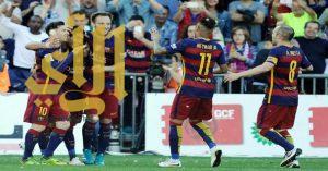 هاتريك سواريز يقود برشلونة للحفاظ على لقب الدوري الأسباني
