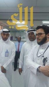 مدير صحية مكة يبدأ جولاته التفقدية استعداد لموسم رمضان ويبدأ بالمختبر الإقليمي وبنك الدم