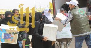 الحملة السعودية تواصل توزيع المساعدات على اللاجئين السوريين في الأردن