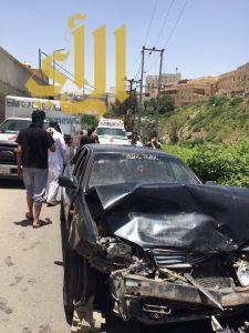 مصرع شخص وإصابة 6 آخرين بحوادث مرورية بمنطقة الباحة