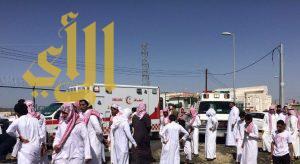 إصابة 11 طالباً بحادث سير مروع بقرية الموسى بالباحة