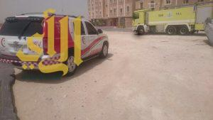 إصابة مستقرة لمواطن بعد إنقلاب مركبته بإتجاه ميناء الدمام