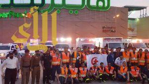 الهلال الأحمر بالرياض يحتفل باليوم العالمي للهلال الأحمر بمجمع سلام مول