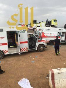 مصرع شخصين وإصابة آخرين بحادث سير على إمتداد طريق خريص بالأحساء