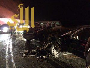 """""""9"""" إصابات بحوادث مرورية بمنطقة الباحة"""