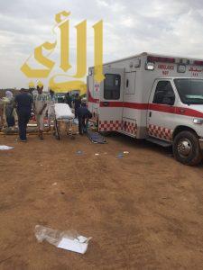 مصرع وإصابة ٤٩ حالة في حادث باص طريق الهجرة