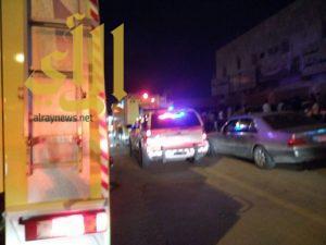 إصابة 5 أشخاص بحريق مجمع سكني على طريق خريص بالرياض