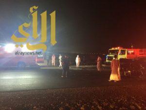 مصرع شخص وإصابة آخرين بحادث سير على طريق حرض