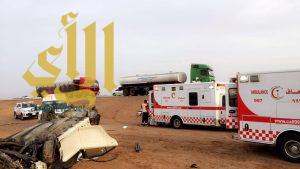 وفاة و٧ إصابات بإنقلاب كامري على سريع المدينة