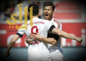 بايرن يتوج بلقب الدوري الألماني للمرة الرابعة على التوالي
