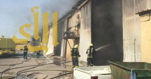 اندلاع حريق في 7 مستودعات بصناعية الدمام