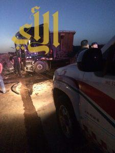 مصرع شخص وإصابة آخر بحادث مروع على طريق ينبع القديم