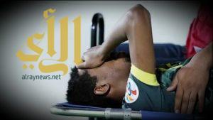 قطع في الرباط الصليبي للاعب النصر إبراهيم غالب