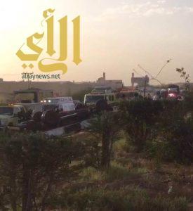 6 إصابات بحادث سير على الدائري الغربي ببريدة