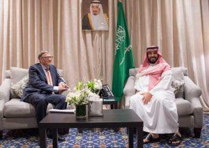 الأمير محمد بن سلمان يوقع مع مؤسسة بيل ومليندا جيتس الخيرية اتفاقية تعاون في المجال الخيري