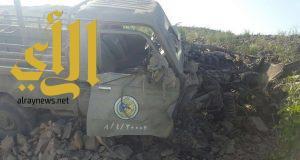 لغم أرضي يصيب دورية تابعة لحرس الحدود بالداير بمركز ضمد