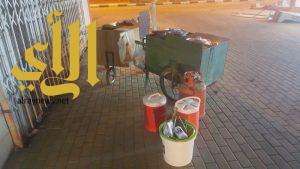 بلدية أحد المسارحة تكثف الجولات الميدانيه على الباعة المتجولين