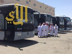 مكتب الدعوة بالشعف يطلق 4 باصات إلى مكه لأداء العمرة