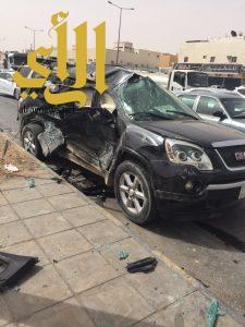 وفاة طفل وإصابة آخرين بحادث سير على طريق الإمام مسلم بالرياض