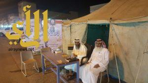 بدء العمل بمخيم جمعية البر لإستقبال الزكاة ببارق