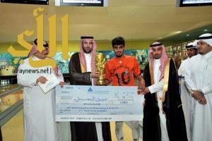 عبدالله بن سعد يتوج أبطال القدم والبولينج في الصم