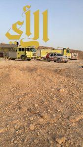 سقوط شاحنة في وادي لبن بالرياض ووفاة قائدها