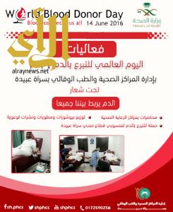 قطاع صحي سراة عبيدة ينظم فعاليات اليوم العالمي للتبرع بالدم