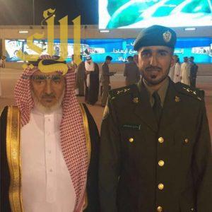 """ابن معيض يحتفل بتخرج ابنه الملازم أول المهندس """"حسن"""" من الكلية الأمنية"""