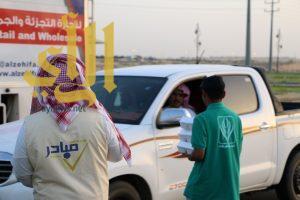 """فريق """" مبادر التطوعي """" يوزع 300 وجبة افطار صائم يومياً بوادي الدواسر"""