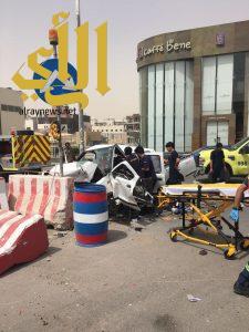 مصرع شخص وثلاث إصابات بحادث مروري بطريق التخصصي بالرياض