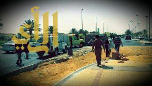 إصابة فردين من رجال الدفاع المدني إثر انقلاب مركبتهم بتبوك