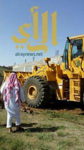 إزالة تعديات في أراضي حكومية غرب أبها