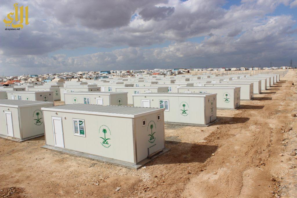 جانب من الكرفانات السعودية في أحد المخيمات