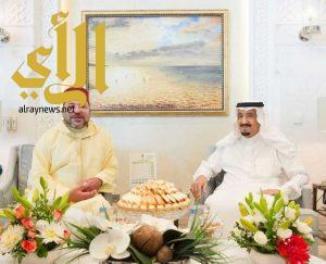 الملك سلمان يستقبل ملك المملكة المغربية