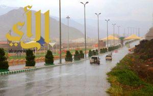 هطول أمطار رعدية على مرتفعات بعض المناطق