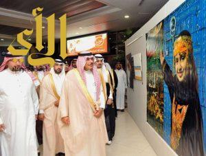 أمير الباحة يفتتح معرض الفنون البصرية في مطار الملك سعود بالباحة