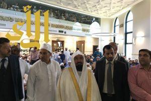 الشيخ السديس يفتتح مسجد ومدرسة السلام في مدينة بريستون بالمملكة المتحدة