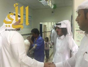 ادارة القطاع الصحي بمحافظة احد رفيدة تعايد المرضى والعاملين بالمستشفى