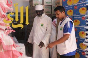 """""""نفع"""" توزع ( 3700 )  سلة غذائية في رمضان بتكلفة أكثر من (900) ألف ريال"""