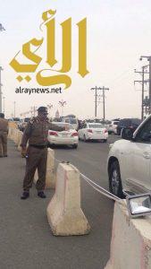 مديرا الشرطة والمرور بعسير يقفان على تنظيم حركة سير منتزه السودة