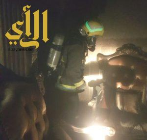 الدفاع المدني بمحايل عسير يخمد حريق نشب في منزل