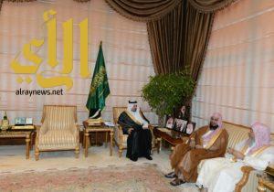 الأمير فيصل بن خالد يستقبل رئيس فرع الإفتاء ومدير الشؤون الإسلامية بعسير