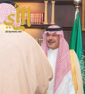 الأمير مشاري بن سعود يستقبل رئيس المجلس التقني والمهني وعميد الكلية التقنية بالباحة