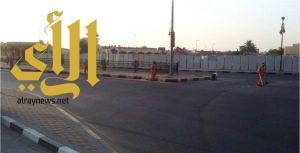 بلدية الخفجي : تنفذ حملة نظافة واسعة على الأحياء
