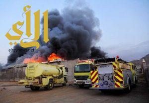 """""""مدني مكة"""" يباشر حالياً حريقًا في فناء بحي الراشدية"""