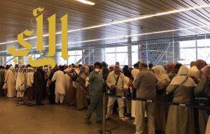 أولى رحلات الحج لهذا العام تحط في مطار المدينة المنورة